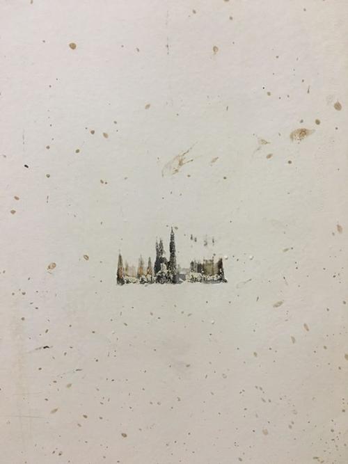 Kwikku, Gambar penampakan kota ini terbentuk dari benturan benda yang bikin cat mengelupas Eh taunya malah bikin karya seni