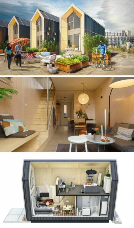 Kwikku, Entah bagaimana caranya Heijmans yang seorang arsitek mampu membuat rumah yang bisa dilipat Meskipun demikian rumah ini juga dilengkapi oleh kamar dan dapur