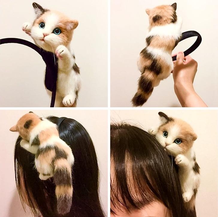 Kwikku, Kita juga akan menemukan orang yang memakai bando dengan hiasan kucing Seperti asli bukan