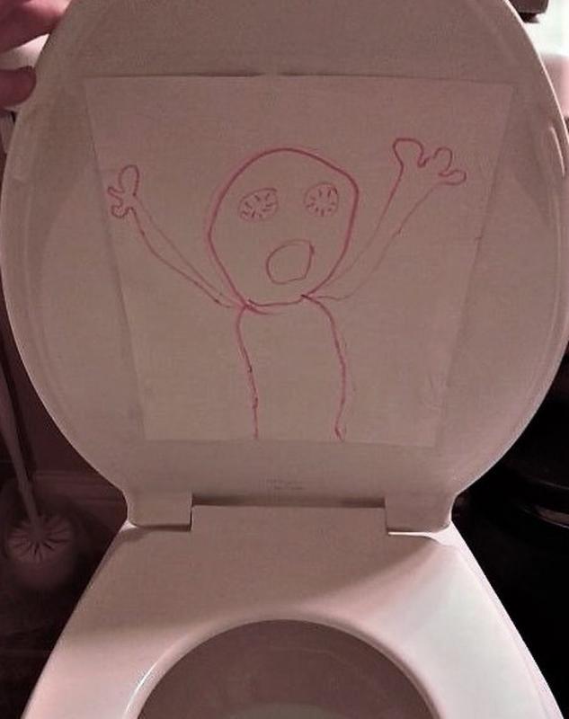 Kwikku, Kaget nggak sih kalau buka toilet ternyata ada gambar beginian ada yang mau usil nih