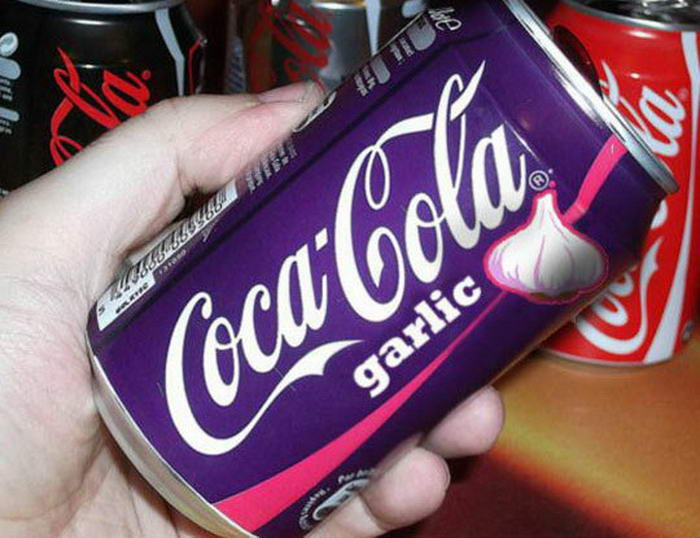 Kwikku, Ada juga coca cola dengan rasa bawang putih nggak kebayang gimana ekspresi yang mau minum
