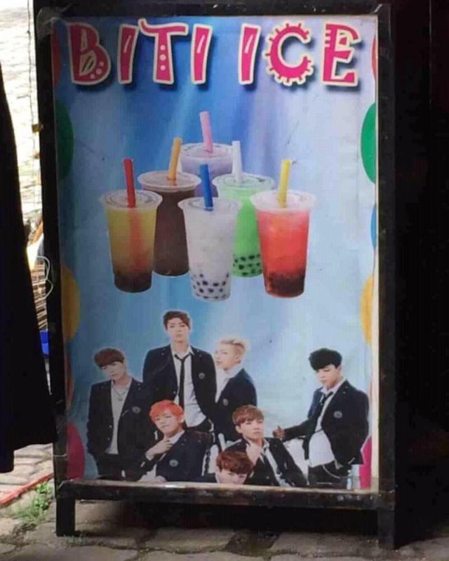 Kwikku, Wah mungkin yang punya kedai benarbenar bias BTS sejati ya Sampai dinamakan bities begini