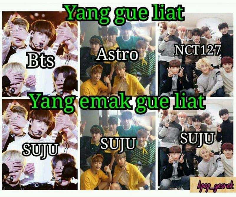 Kwikku, Semua nama idol group Suju