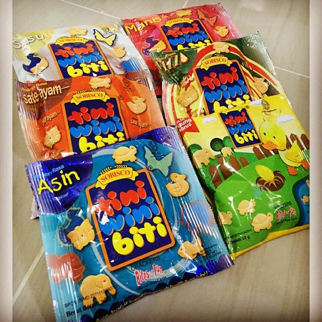 Kwikku, Tini Wini Biti ini makanan anak orang kaya pada zamannya Dijual di Supermarket dan makanan ringan paling elit di eranya