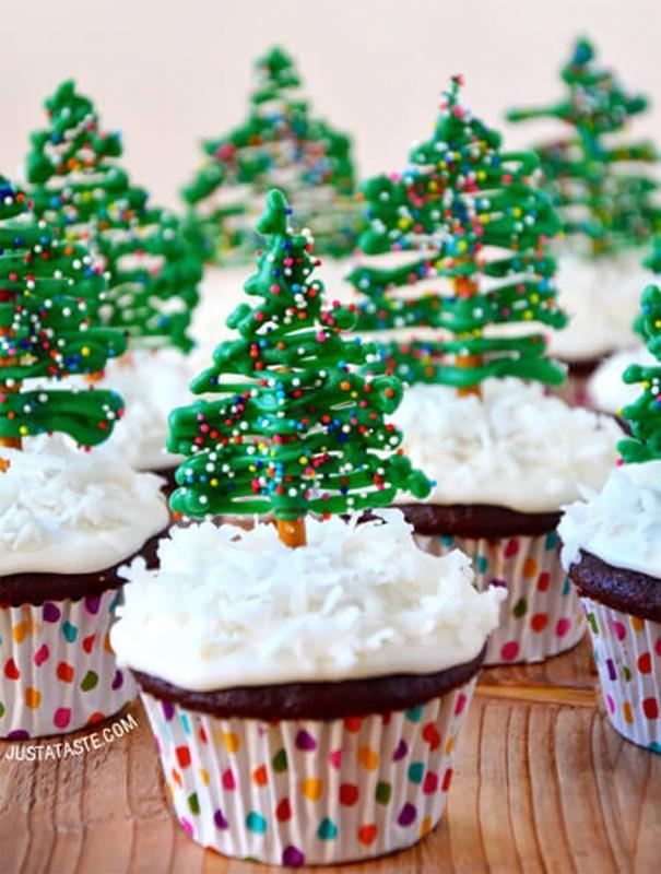 Kwikku, Christmas tree cupcakes Terasa banget ya suasana Natalnya