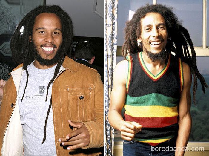 Kwikku, Ziggy Marley dan Bob Marley di Usia  Tahun
