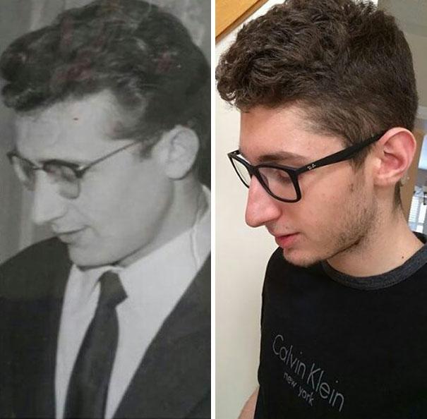 Kwikku, Foto kakek sebelah kiri diambil pada tahun  Bukankah mirip