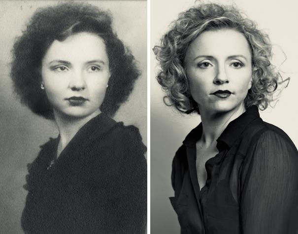 Kwikku, Foto nenek diambil ketika usianya  tahun  Bukankah generasi pertama dan ketiga ini mirip