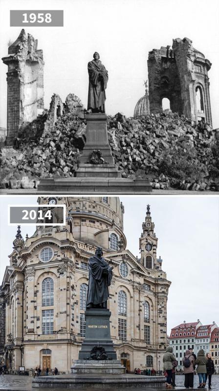Kwikku, Martin Luther Statue Dresden Jerman