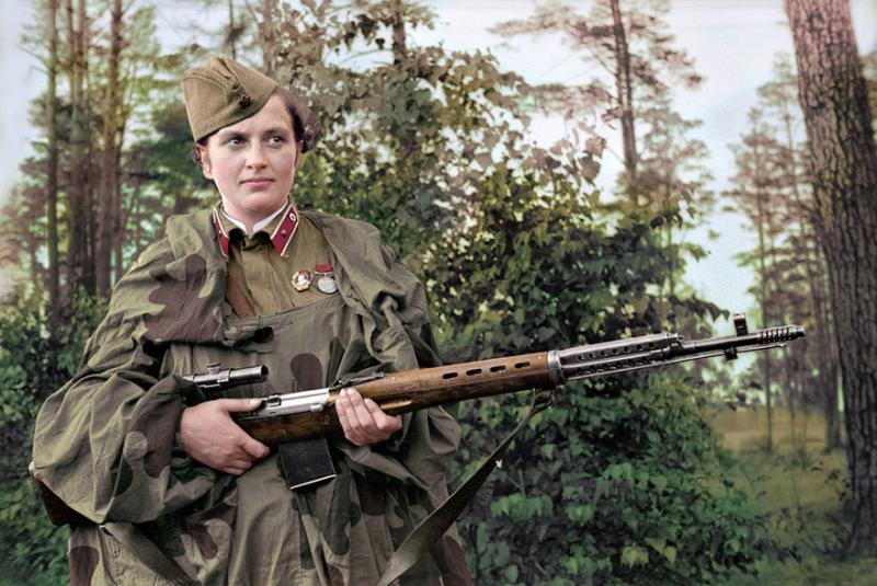 Kwikku, Lyudmila Pavlichenko dilaporkan telah membunuh  tentara Nazi dalam waktu kurang dari satu tahun