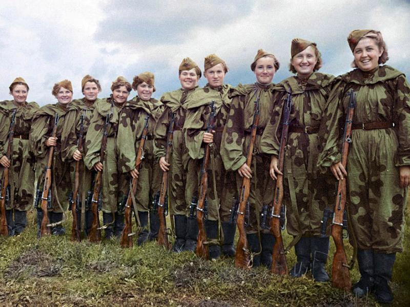 Kwikku,  wanita terdaftar dalam pasukan tembak tentara Uni Soviet dan berperang melawan Jerman pada Juni