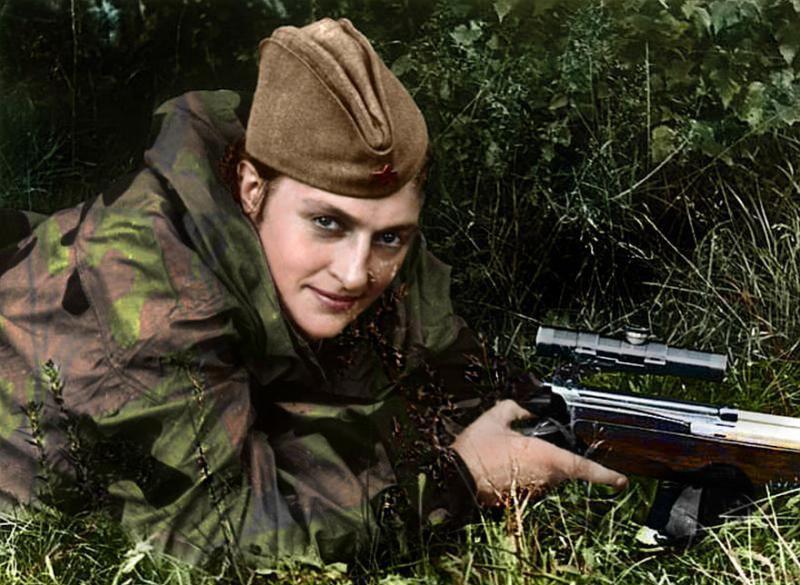Kwikku, Pavlichenko mengatakan bahwa ia membunuh para orang Hitler seperti bijibijian matang