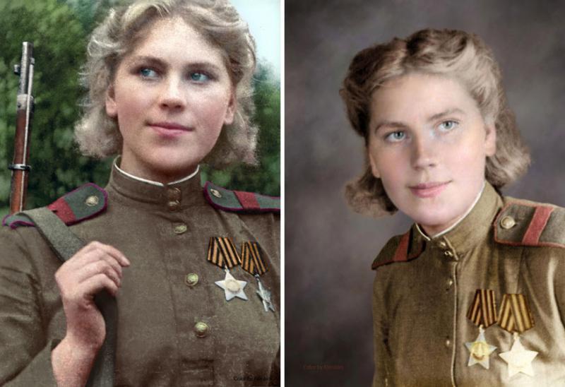 Kwikku, Pewarnaan kembali foto para tentara wanita ini menjadikannya seperti nyata dan hidup di era masa kini
