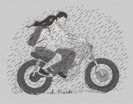 Kwikku, Naik Motor Keliling Bandung