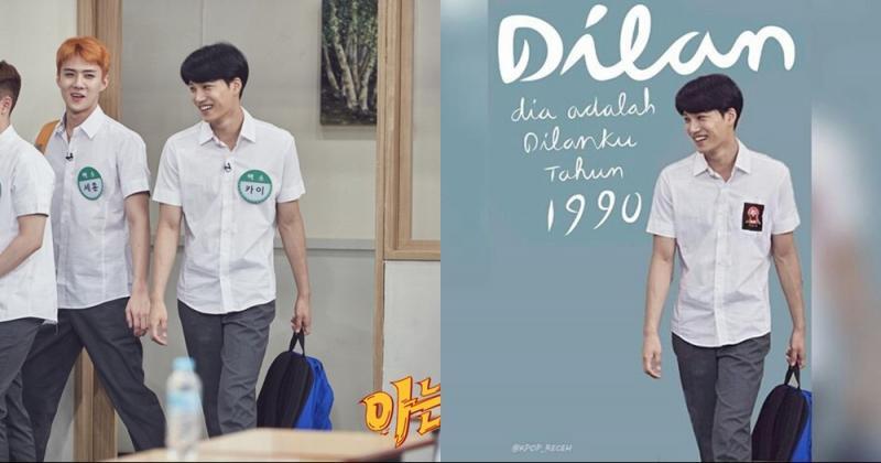 Kwikku, Kebayang nggak kalau si Kai EXO jadi Dilan Asli kreatif banget nih netizen bisa ngedit gini