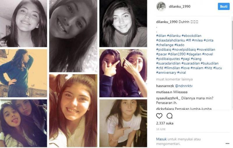 Kwikku, Bahkan foto Milea sempat diunggah di instagram Agak kebulebulean ya