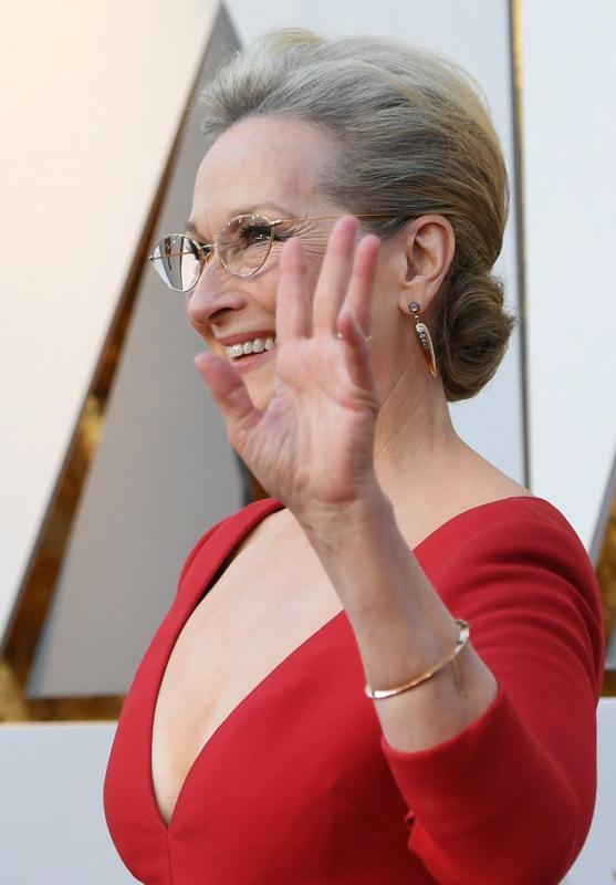 Kwikku, Maryl Streep saat berjalan di red carpet sebagai aktris yang masuk nominasi Oscar untuk ke  kalinya
