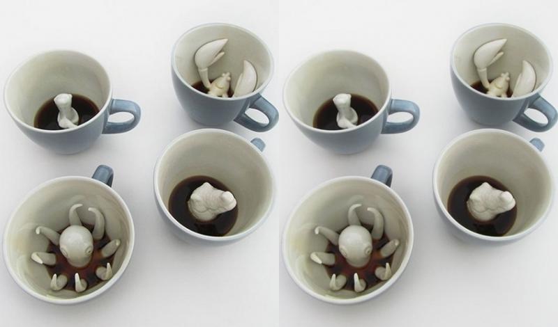 Kwikku, Nah kalau ini adalah hidden monster mug Seolaholeh ada makhluk yang bersembunyi di dalam kopimu gitu Keren kan