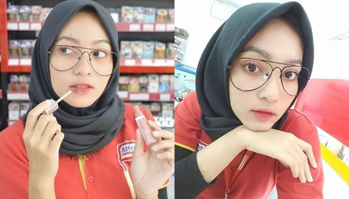 Kwikku, Nah kalau hijabers cantik ini namanya Naelly Dia juga seorang karyawan minimarket yang kini jadi selebgram