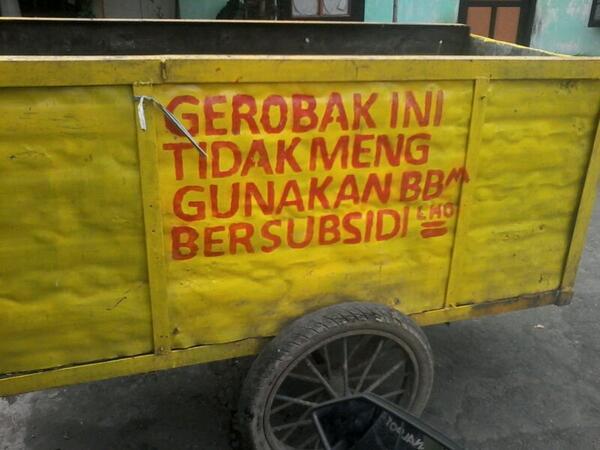 Kwikku, Gerobak yang tidak perlu isi bensin