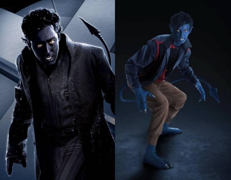 Kwikku, Nightcrawler diceritakan memiliki kemampuan teleportasi Dengan penampilan hampir sama karakter ini dulu diperankan oleh Alan Cumming Versi terbaru dimainkan oleh Kodi SmithMcPhee