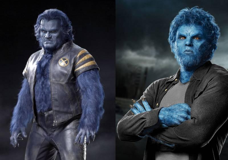 Kwikku, Beast juga masih memiliki penampilan yang sama dengan versi lama Hanya saja dulu dimainkan oleh Nicholas Hoult Sedangkan kini diperankan oleh Steve Bacic