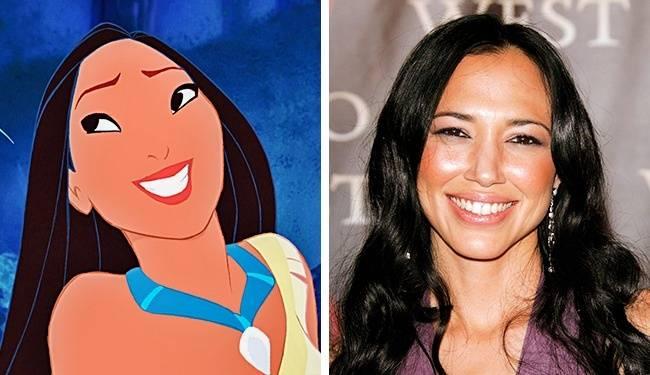 Kwikku, Pocahontas dan Irene Bedard samasama cantik dan memiliki kulit eksotis