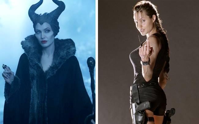 Kwikku, Angeline Jolie bermain apik sebagai penyihir jahat di film Maleficent Tapi dia juga sukses bermain dalam film Tomb Rider dengan karakter baiknya