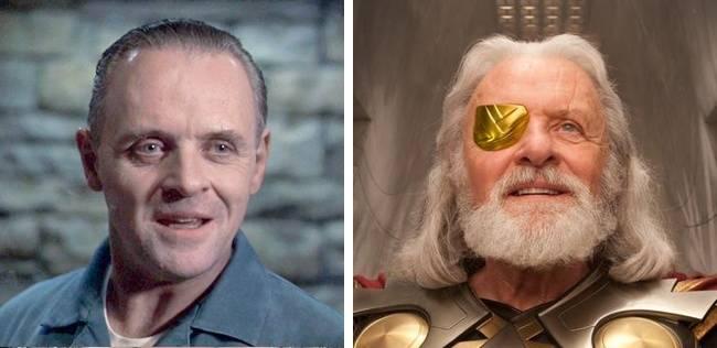Kwikku, Anthony Hopkins terlihat sempurna saat berperan sebagai kanibal dalam film The Silence of The Lambs Sedangkan di film Thor dirinya terlihat berwibawa