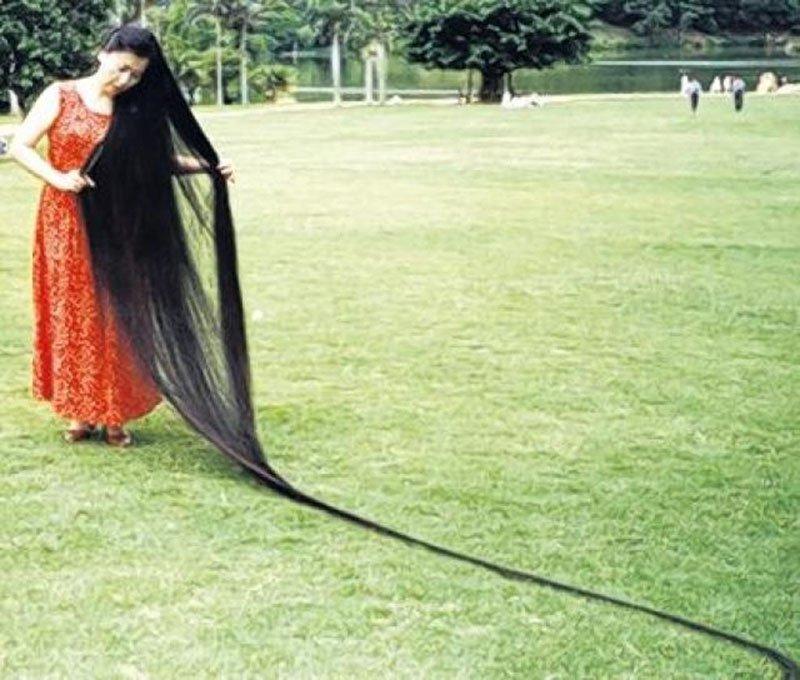 Kwikku, Xie Qiuping  Rambut Terpanjang