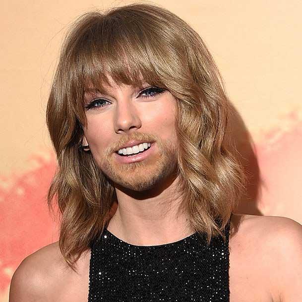 Kwikku, Taylor Swift pun seperti lakilaki berjenggot tipis
