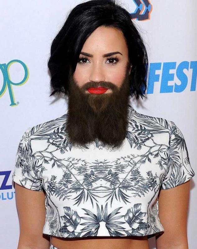 Kwikku, Artistik banget ya jenggot Demi Lovato