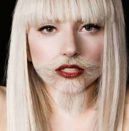 Kwikku, Jadi unyu gini ya kumis dan jenggot Lady Gaga