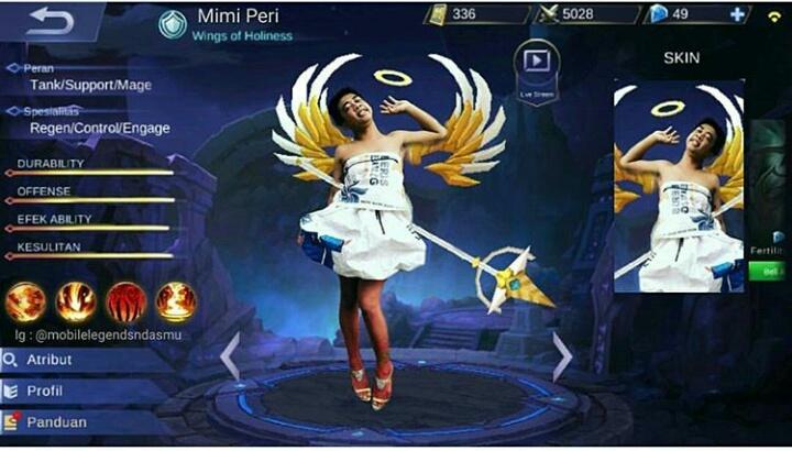 Kwikku, Mimi Peri juga bakalan memberikan sumbangsihnya di Mobile Legend