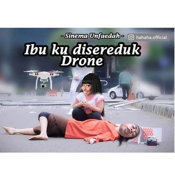Kwikku, Zaman now orang pun bisa ketabrak drone sampai pingsan Tapi si anak malah ketawa