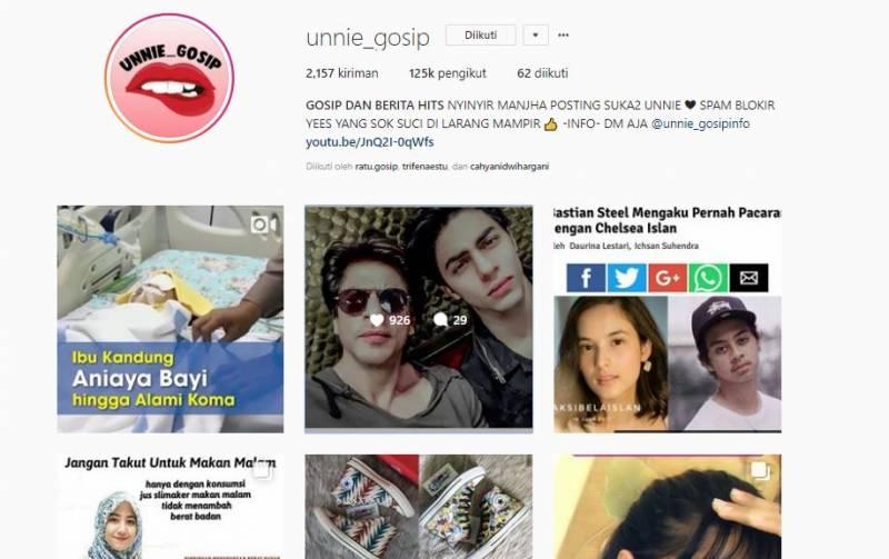 Kwikku, Tak kalah viral di media sosial unniegosip juga memberikan berita yang up to date