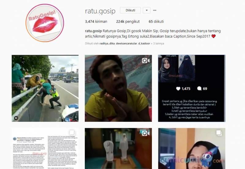 Kwikku, Dengan tagline Ratu Gosip Digosok Makin Sip ratugosip memberikan informasi terupdate dari para artis dan orang fenomenal lainnya