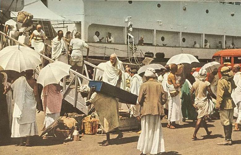 Kwikku, Kedatangan para jemaah haji dengan menggunakan kapal