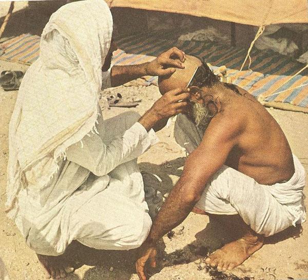 Kwikku, Tahallul potong rambut yang termasuk dalam rangkaian ibadah haji