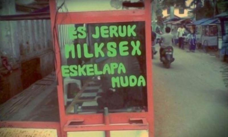 Kwikku, Maksutnya Milkshake tapi cara bacanya memang Milksex sih