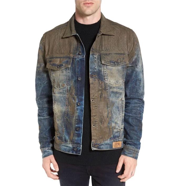 Kwikku, Jaket jeans dengan cipratan lumpur Jatuhnya malah kayak dekil