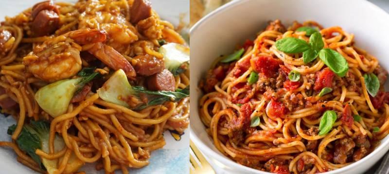 Kwikku, Sekilas mie jawa dan spageti memang terlihat mirip Namun mie jawa lebih kaya akan bumbu sedangkan spageti hanya dibumbui bolognaise dan keju