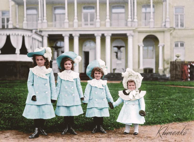 Kwikku, Grand Duchess Olga Tatiana Maria dan Anastasia Mikolaevna Romanov Rusia di Dramstadt Hesse
