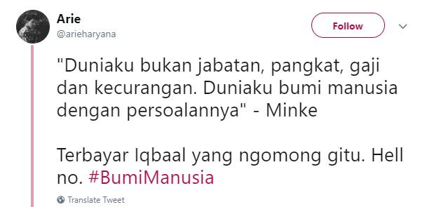 Kwikku, Waduh mirip banget waktu Iqbaal akan memerankan Dilan ya komentar netizen