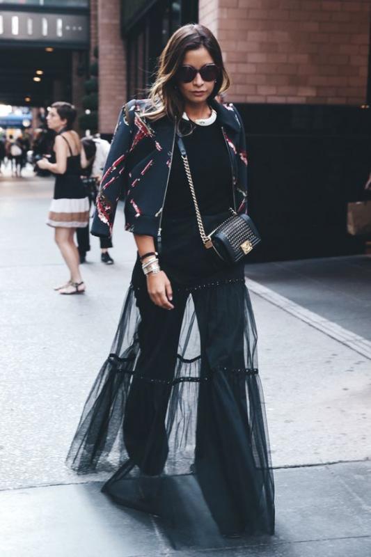 Kwikku, Sebenarnya jika tanpa tulle style black cutbray dan jacket ini lebih boyish Tapi berkat tulle maka style pun jauh lebih feminin