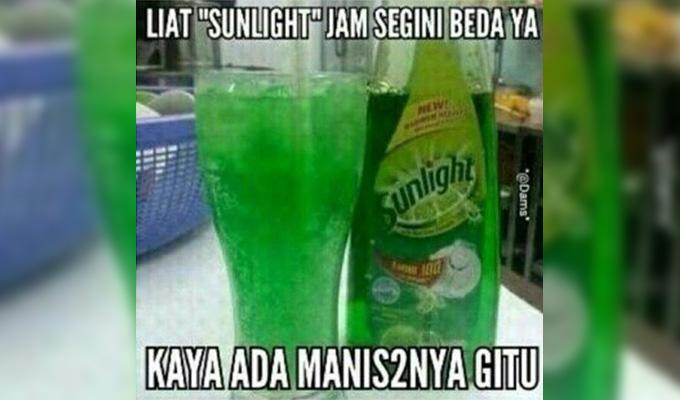 Kwikku, Kadang sunlight pun nggak ada bedanya sama sirup rasa melon