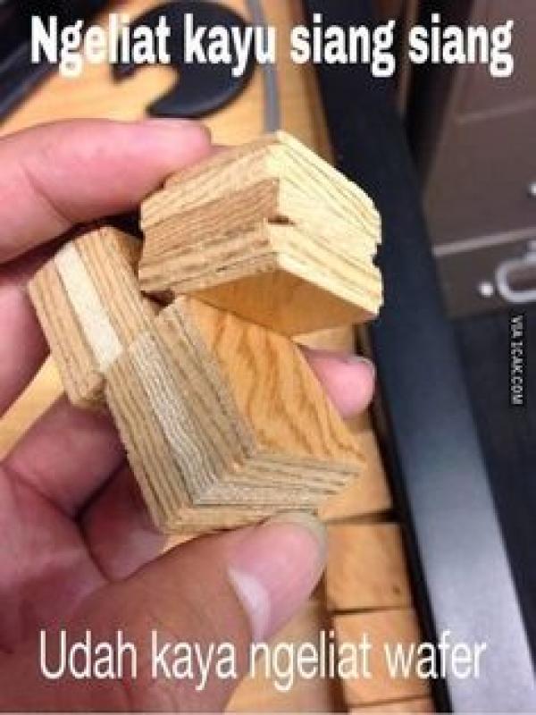 Kwikku, Ya ampun kayu aja terlihat seperti wafer