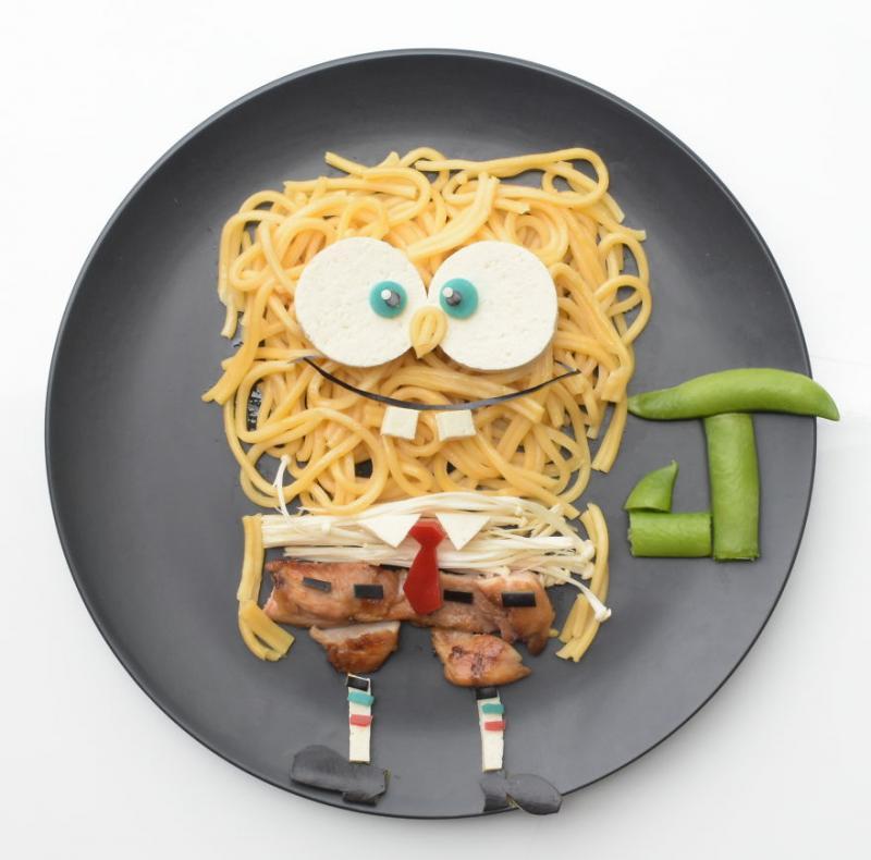 Kwikku, Mie dan daging Spongebob Squarepants siapa yang nggak suka