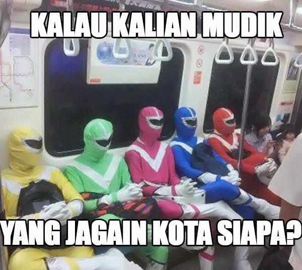 Kwikku, Power Rangersnya libur dulu lah ya kan Lebaran