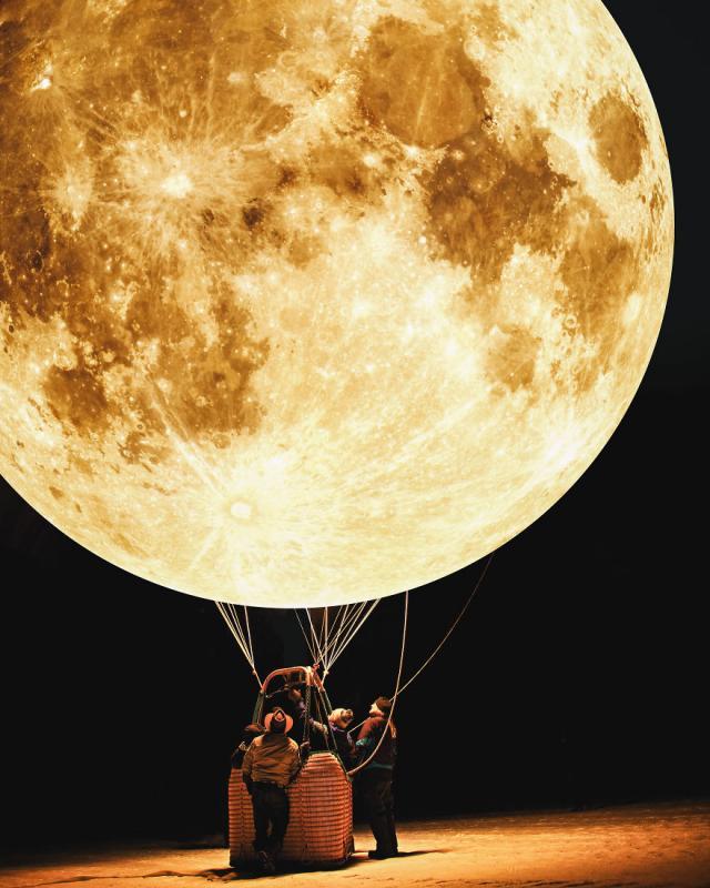 Kwikku, Moon Ballon andai bulan dan bumi sedekat ini